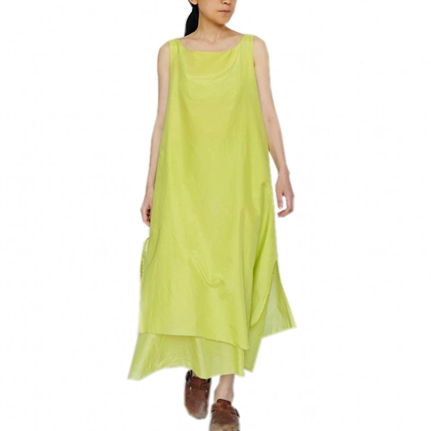 Katuo Women's Casual A-line Sundress Summer Two Layers