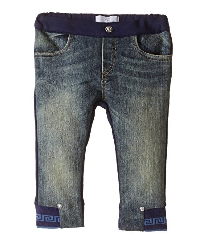 Versace Kids Baby Boys' Denim and Sweatpants Mixed Fabrics (Infant), Denim Blue, 12 Months X One - Versace Infants For