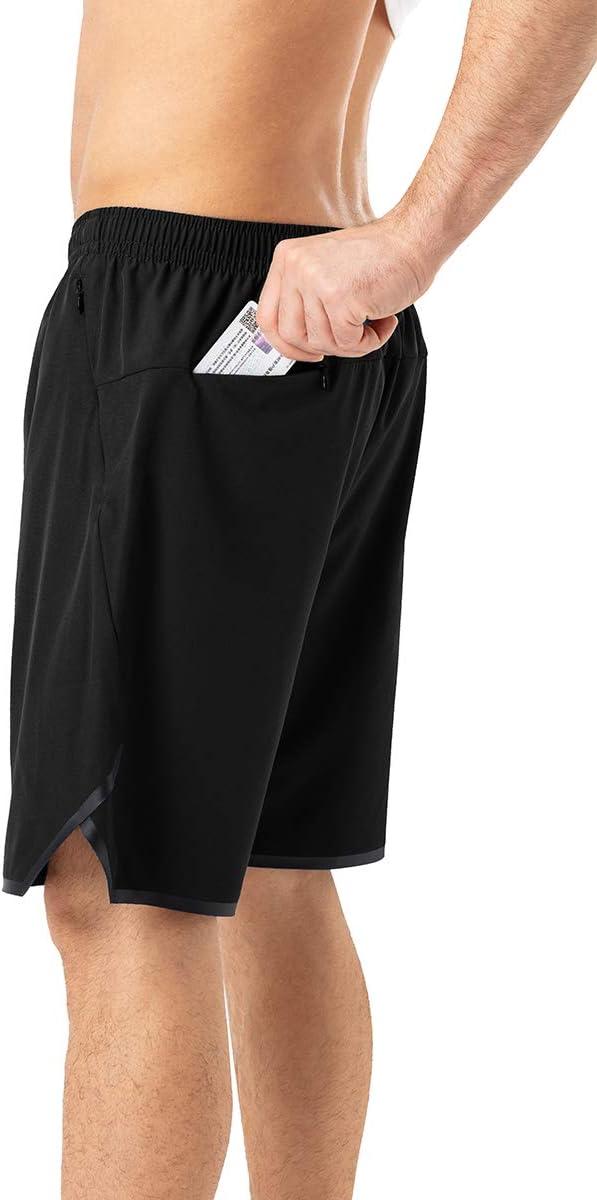 Mabove Herren Sport Shorts Kurze Hosen Laufshorts mit Rei/ßverschluss Taschen f/ür Running Outdoor Fitness Gym,Schnell Trocknend,Leicht