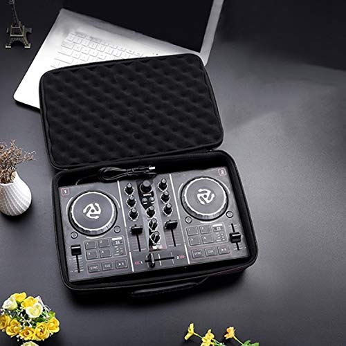Nrpfell Newest Eva Hard Carry Case for Numark Party Mix Starter Dj Controller Padded Foam Hard Shell Exterior Built in Travel Handle