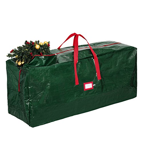 Zober Christmas Tree Storage Bag - Artificial Up to 7' Christmas Tree Organizer for Un-Assembled Trees, with Sleek Zipper - Also Accommodates Holiday Inflatables | 48