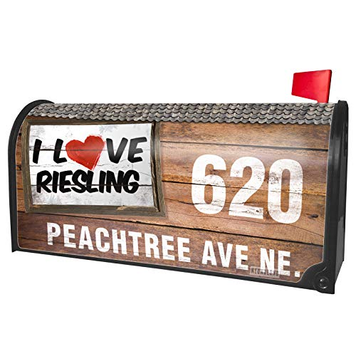NEONBLOND Custom Mailbox Cover I Love Riesling Wine