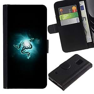 NEECELL GIFT forCITY // Billetera de cuero Caso Cubierta de protección Carcasa / Leather Wallet Case for Samsung Galaxy S5 V SM-G900 // RAZR Serpientes