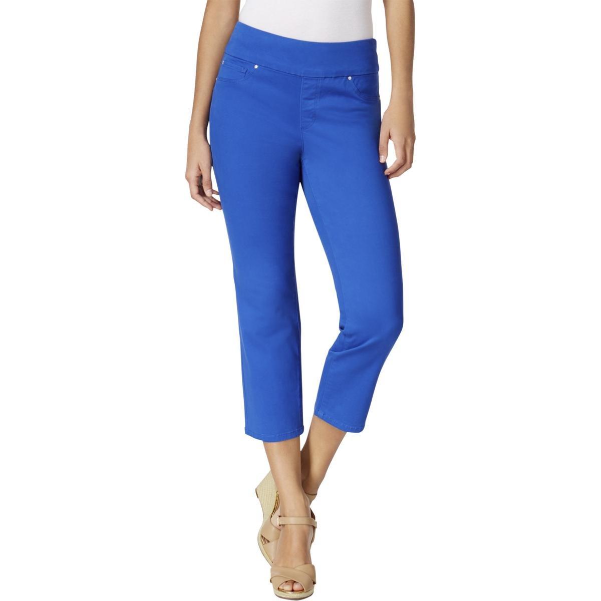 Charter Club Womens Jegging Comfort Waist Capri Jeans Blue 8