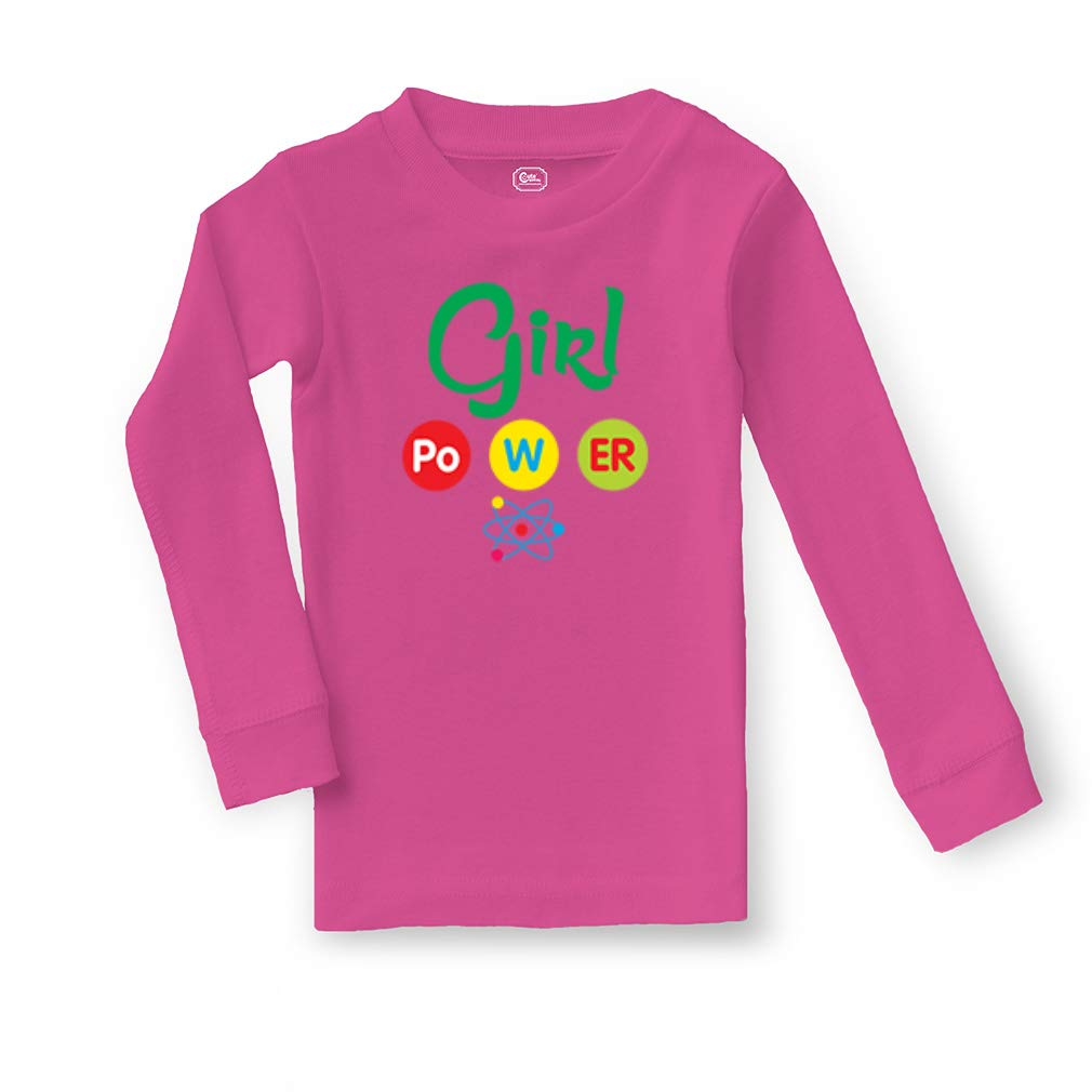 Girl Po W Er Science Cotton Crewneck Boys-Girls Sleepwear Pajama 2 Pcs Set