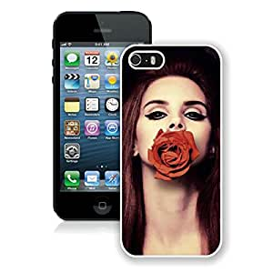 lana del rey rose White iPhone 5S Screen Phone Case Attractive and Newest Design