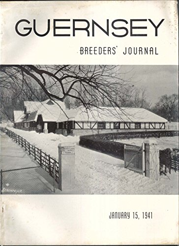 GUERNSEY Breeder's Journal Iowa Utah Pennsylvania Maine Indiana ++ 1/15 1941 ()