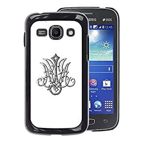 A-type Arte & diseño plástico duro Fundas Cover Cubre Hard Case Cover para Samsung Galaxy Ace 3 (Initials M T Letters Marianne Mary White)
