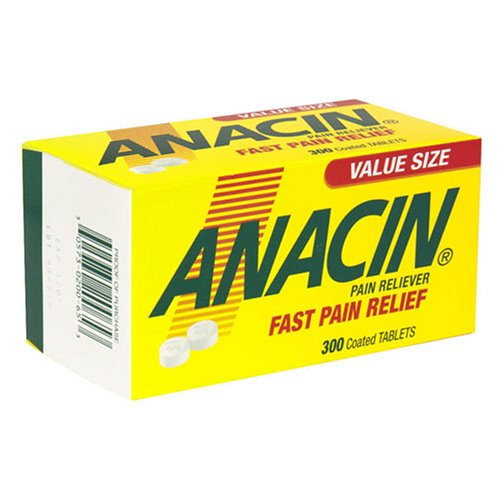 Anacin Pain Reliever, Coated Tablets, 300-pack