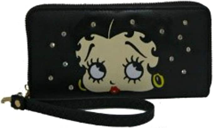 Licensed Brand New Betty Boop Zipper Polka Dot Wallet