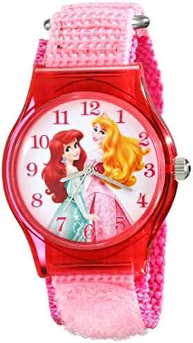 Disney Kids' W001701 Princess Analog Display Analog Quartz Pink Watch