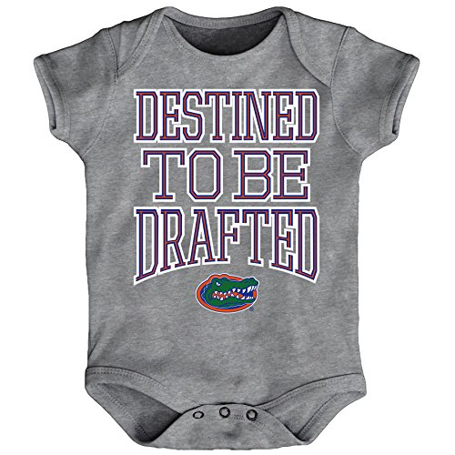 Outerstuff NCAA Florida Gators Newborn & Infant Destined Short Sleeve Bodysuit, Heather Grey, 18 Months