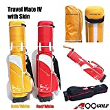 A99 Golf Travel Mate IV Carryon Travel Cover Hard Case Hybrid Travel Bag with TSA Lock (Gold) + One Protection Skin