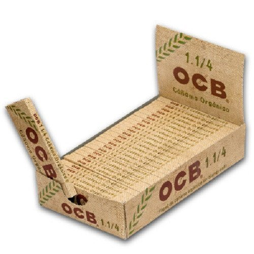 - OCB Organic Hemp Unbleached Rolling Papers 1 1/4 Unflavored Flavor Pack of 24