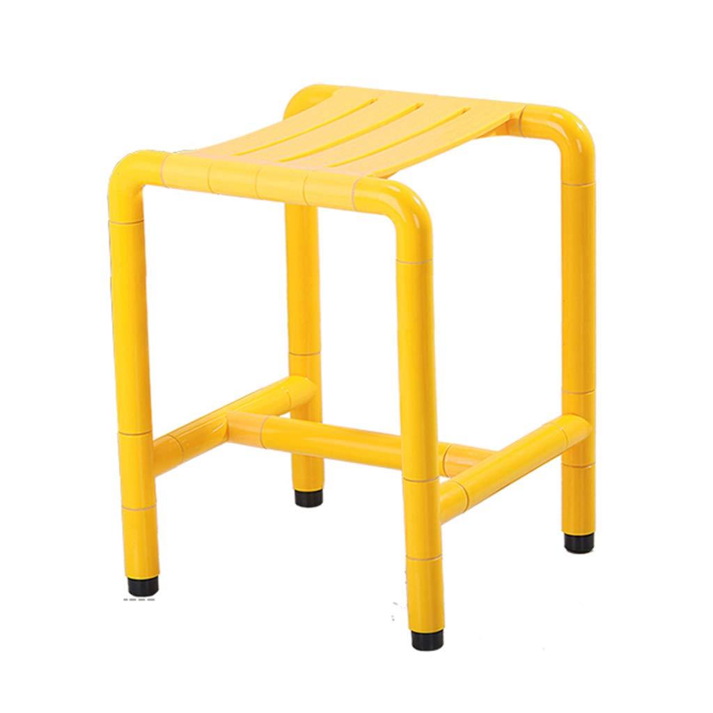 卸し売り購入 バススツール ノンスリップバスルームスツールは、高齢者のためのバスチェアシャワースツールを強化シューズベンチバスルーム抗菌ナイロンステンレススチールシャワー椅子脚 (色 : (色 イエロー いえろ゜, サイズ さいず さいず イエロー : 45.5cm) 45.5cm イエロー いえろ゜ B07GGMWT7S, ユニチョウ:ea8e1c1f --- efichas.com.br