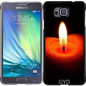 Funda para Samsung Galaxy Alpha - Fuego Vela De Navidad by WonderfulDreamPicture