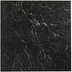 Achim Home Furnishings FTVMA40920 Nexus 12-Inch Vinyl Tile, Marble Black with White Vein, 20-Pack