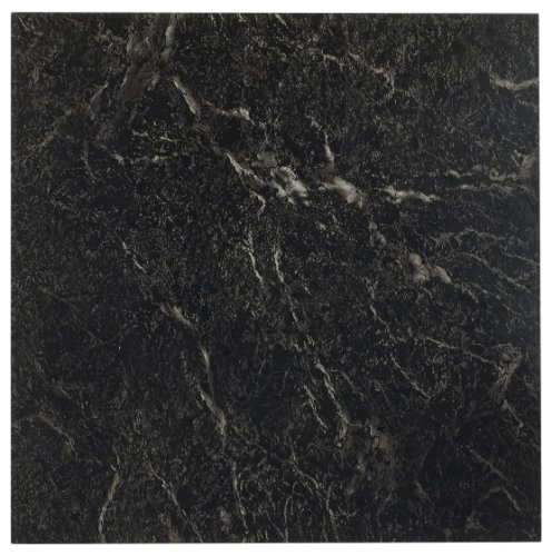 Achim Home Furnishings FTVMA40920 Nexus 12-Inch Vinyl Tile, Marble Black with White Vein, 20-Pack - Black Square Flooring