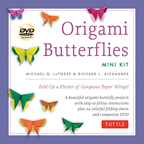 Origami Butterflies Mini Kit: Fold Up a Flutter of Gorgeous Paper Wings!: Kit with Origami Book, 6 Fun Projects, 32 Origami Papers and Instructional DVD ()
