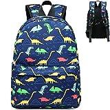 CAMTOP Kids Backpack Preschool Kindergarten Bookbag Elementary School Bag for Boys(Dinosaur-Navy Blue)