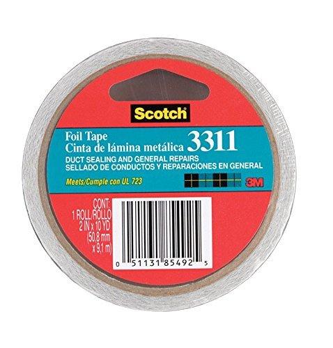 scotch-3311-aluminum-foil-tape-2-x-10-yd-36-mil-silver-case-of-24