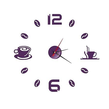 Webla - Reloj de Pared acrílico pequeño y Moderno, para ...