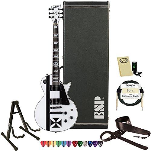 ESP LTD James Hetfield Signature Series Iron Cross Electric Guitar with Gig Bag & Accessories, Snow White