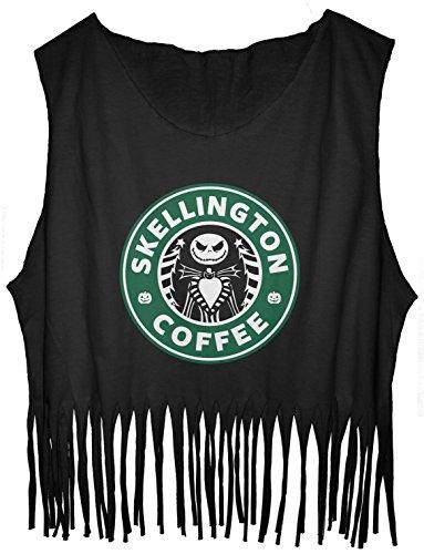 JDS FRINGE TankTop Jack Skellington Starbuck Cool Design Tee (One Size, Black) for $<!--$23.75-->