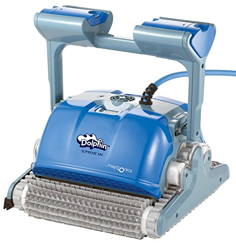Dolphin-Poolreiniger-Supreme-M4-Robotsauger-fr-Wand-und-Bodenreinigung-blau