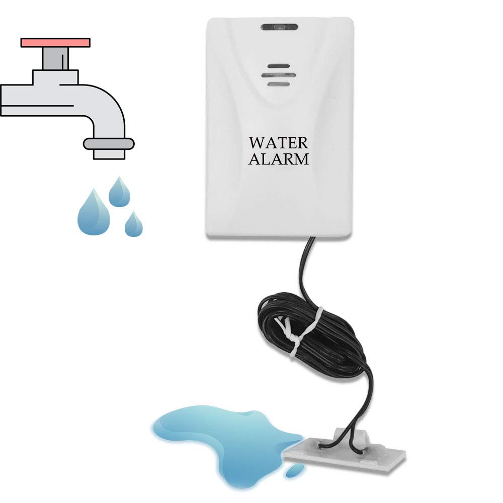 Water Alarm Detector and Sensor for Water Leakage Detection Battery Operated Sensitive Flood Alarm Battery Included Foreet 2041