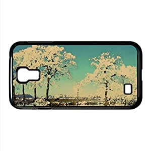 Frosty Trees Watercolor style Cover Samsung Galaxy S4 I9500 Case (Winter Watercolor style Cover Samsung Galaxy S4 I9500 Case)