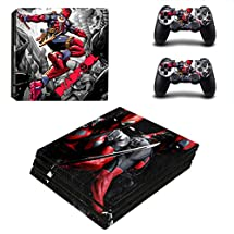 Adventure Games PS4 PRO - Deadpool - Playstation 4 Vinyl Console Skin Decal Sticker + 2 Controller Skins Set