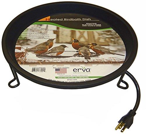 Erva BA5HSL Heated Bird Bath Ground Level, Black
