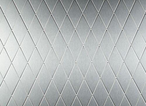 Rigidized Diamond Pattern Brushed Satin Textured Stainless Steel Sheet, 0.029