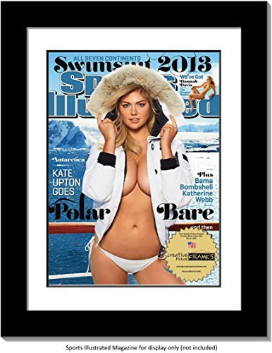 CreativePF [1012bk-w] Collectors Edition Sports Illustrated Frame, Displays 1994-Current Magazines Measuring 8 by 10 1/2-inches w/White Mat (Measure Your Magazine)