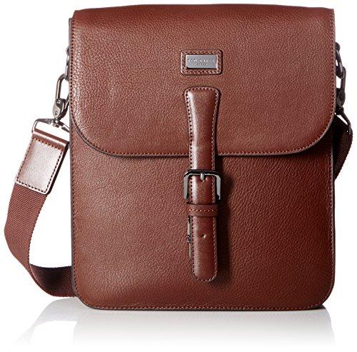 Ted Baker Men's Jagura Leather Flight Bag, Tan by Ted Baker