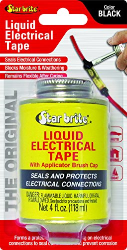 Star brite Liquid Electrical Tape - 4 oz Can with Brush Applicator