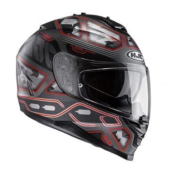 HJC 123171 X S Casco Moto, Gris/Rojo, XS
