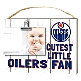 "KH Sports Fan 1001101650 10""x8"" Edmonton Oilers Clip It Weathered Baby Logo NHL Photo Frame"
