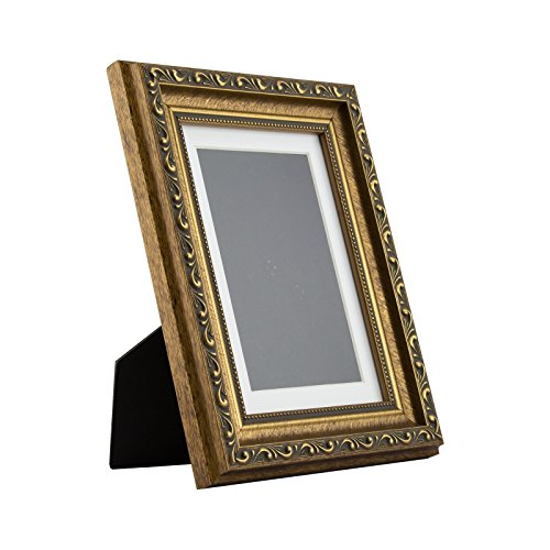 Ancien Ornate Table-top 5x7 Antique Gold Standing Picture Frame with ()