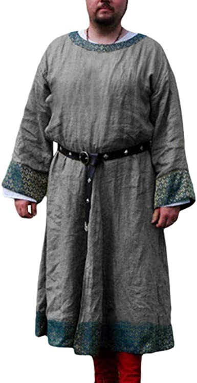 Hombre Camisa de Pirata Vintage Medieval Ropa Suelto Estampada Robes Tops Renaissance Victoria Vikingos Pirata Ropa per Halloween Cosplay Sin Cinturón: Amazon.es: Ropa y accesorios