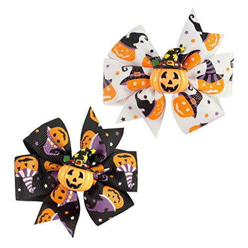 Baby Halloween HairPin HairClips with Bowknot Hair bow Kids Girl Hairgrip JHH23 (C2) ()