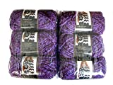 Lion Brand Yarn Wool-Ease Thick and Quick Yarn, (6-Pack), Grape