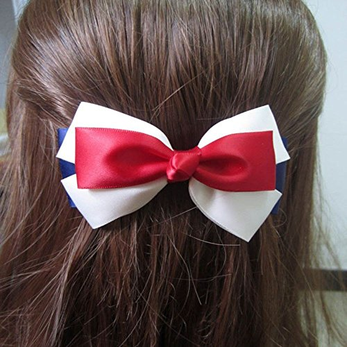 (Princess Bows Hair Clips Hairband Hair Accessories Hairpin Navy Style Barrette)