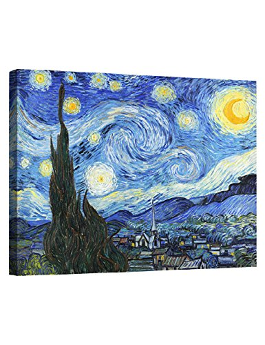 Eliteart- Starry Night by Vincent Van Gogh Oil Painting Reproduction Giclee Wall Art Canvas Prints