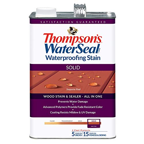 THOMPSONS WATERSEAL TH.043831-16 Solid Waterproofing Stain, Sequoia Red ()