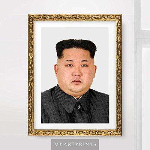 Kim Jong UN North Korea Portrait Art Print Poster Korean Leader Wall Picture A4