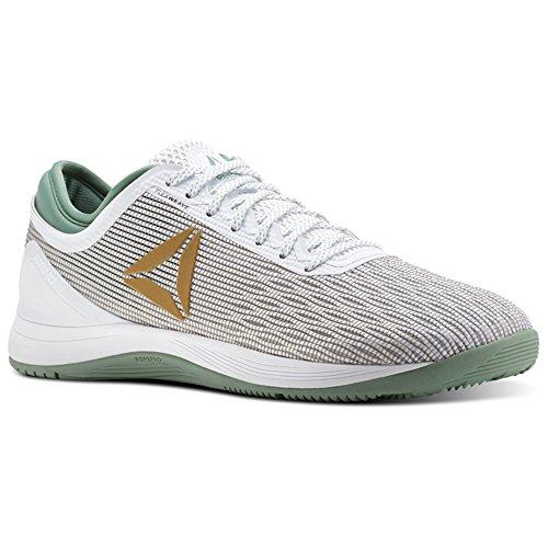 Reebok Crossfit Nano 8 Flexweave Shoe Men's Crossfit 10 White-Gold-Industrial Green