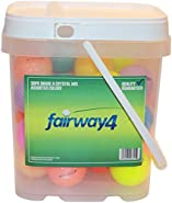 Fairway4 Recycled Crystal Mix Golf Balls (30 Pack), Assorted Colors