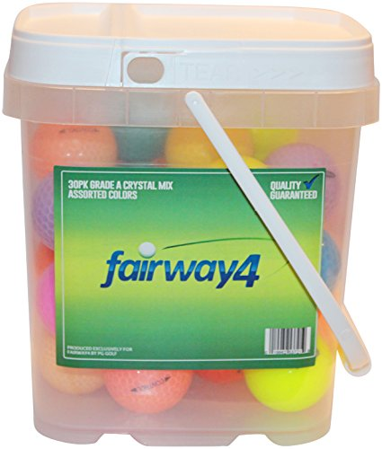 Fairway4 Recycled Crystal Mix Golf Balls (30 Pack), Assorted - Golf Muta